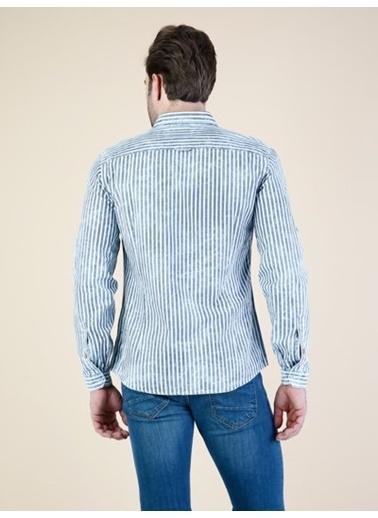 Colin's Uzun Kollu Gömlek İndigo